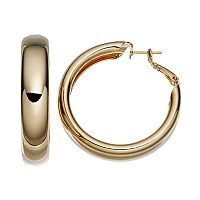 14k Gold-Plated Hoop Earrings