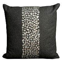 Mina Victory Stripe Jeweled Throw Pillow