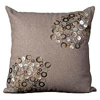 Mina Victory Shell Circles & Buttons Throw Pillow