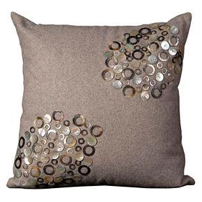 Mina Victory Shell Circles & Buttons Throw Pillow