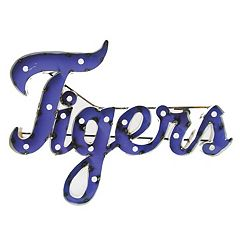 LSU Tigers Recycled Metal Lighted Wall Décor