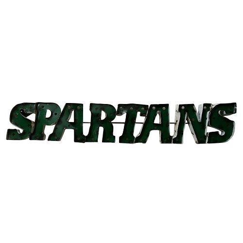 Michigan State Spartans Recycled Metal Wall Décor