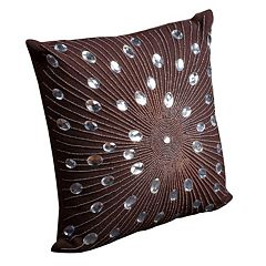 Mina Victory Sunburst Beaded Throw Pillow