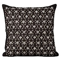 Mina Victory Fleur De Lis Throw Pillow