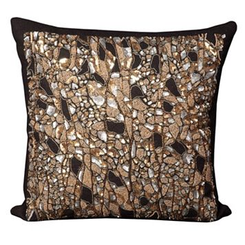 Mina Victory Branches Beaded Throw Pillow