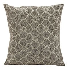 Mina Victory Stars Beaded Throw Pillow