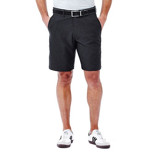 Men's Haggar In Motion Melange Flat-Front Shorts