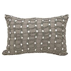 Michael Amini Ladders Beaded Throw Pillow