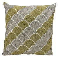 Michael Amini Scallops Beaded Throw Pillow