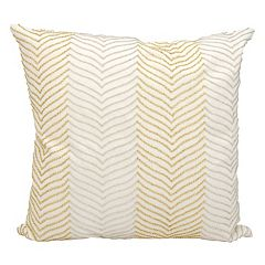 Michael Amini Chevron Beaded Throw Pillow