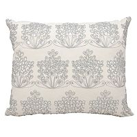 Michael Amini Ice Flowers Throw Pillow