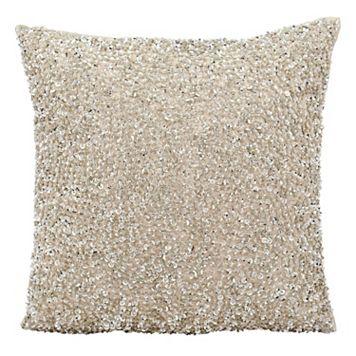 Michael Amini Sequin Throw Pillow