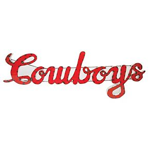 Oklahoma State Cowboys Recycled Metal Wall Décor