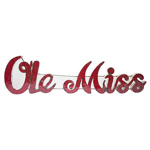 Ole Miss Rebels Recycled Metal Wall Décor