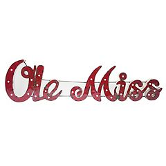Ole Miss Rebels Recycled Metal Lighted Wall Décor