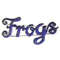 TCU Horned Frogs Recycled Metal Wall Décor