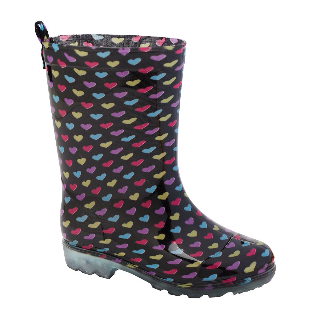 Girls Printed Rain Boots