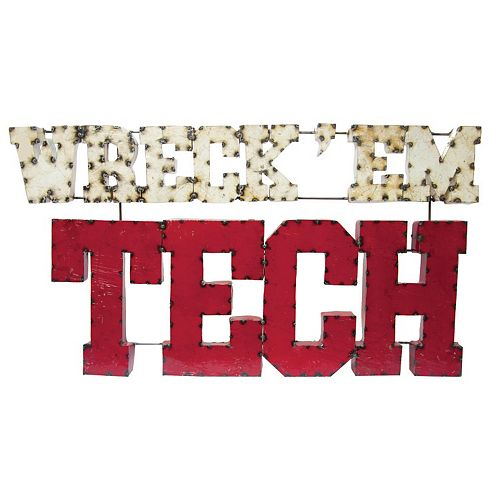 Texas Tech Red Raiders Recycled Metal Wall Décor