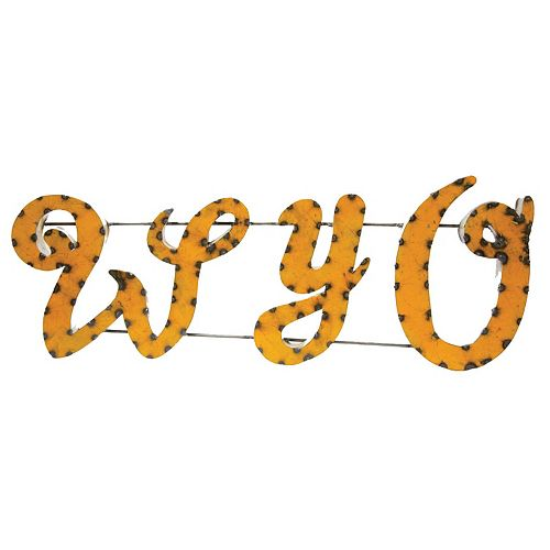 Wyoming Cowboys Recycled Metal Wall Décor