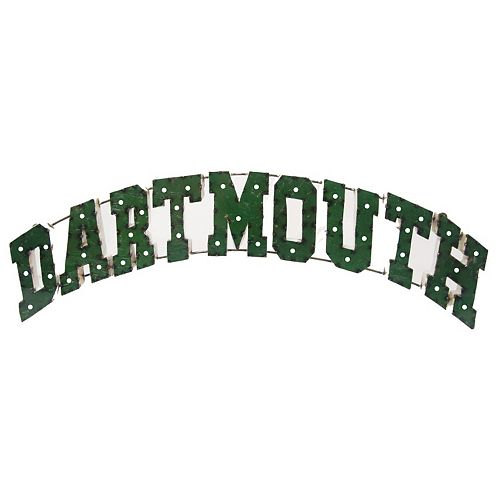 Dartmouth College Recycled Metal Lighted Wall Décor