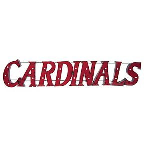 Louisville Cardinals Recycled Metal Lighted Wall Décor