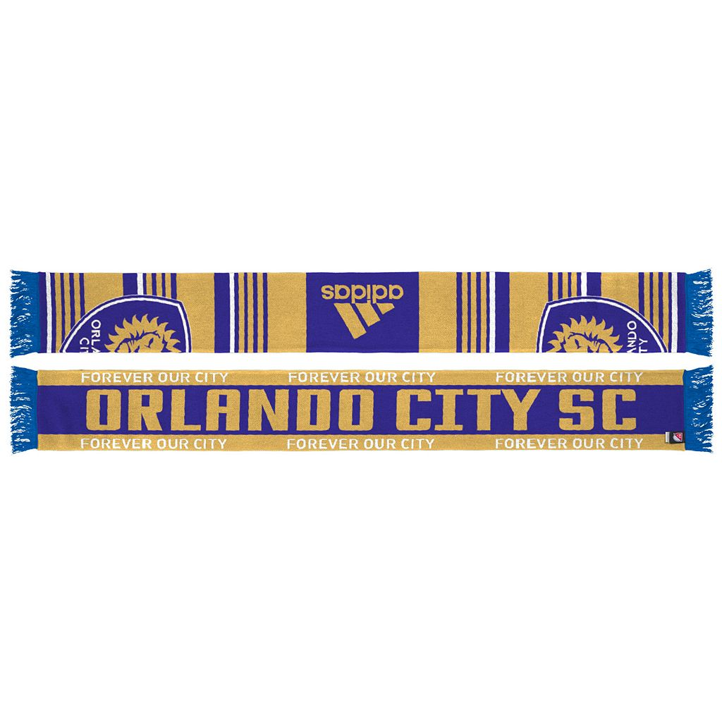 Adult adidas Orlando City SC Team Slogan Scarf