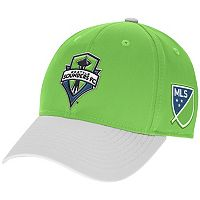 Adult adidas Seattle Sounders Authentic Team Flex-Fit Cap