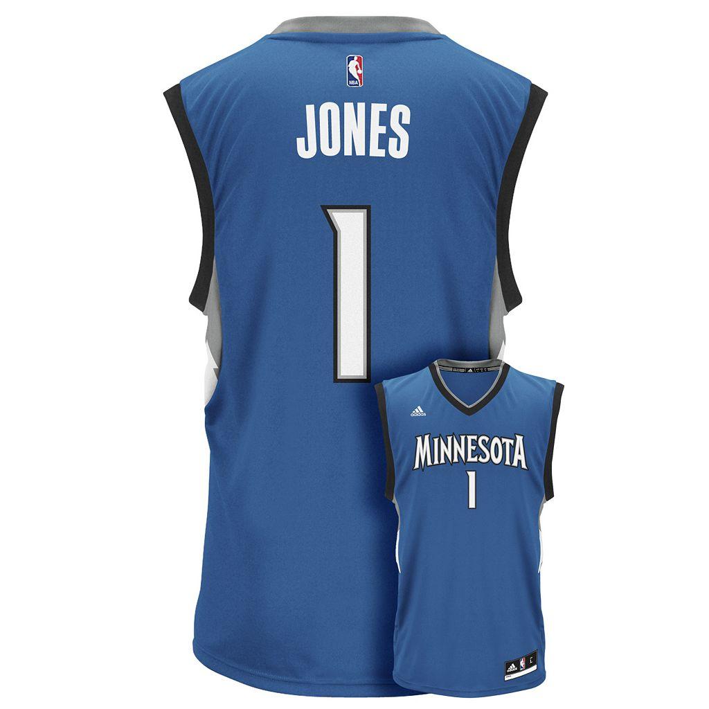Men's adidas Minnesota Timberwolves Tyus Jones Replica Jersey