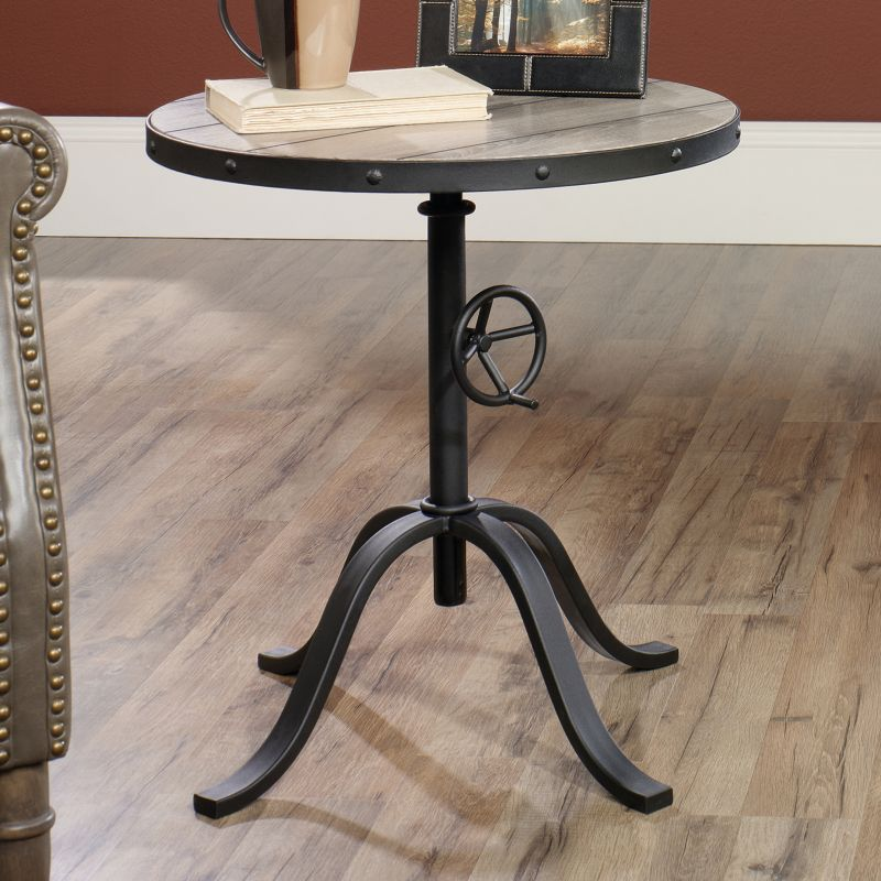 Barrister Lane Pedestal End Table, Brown