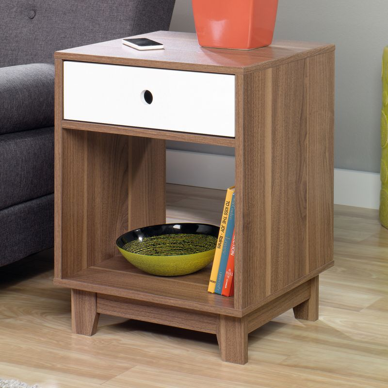 Modern End Table, Brown