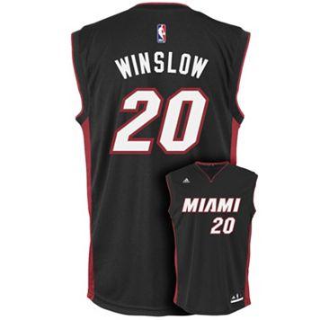Men's adidas Miami Heat Justise Winslow Replica Jersey