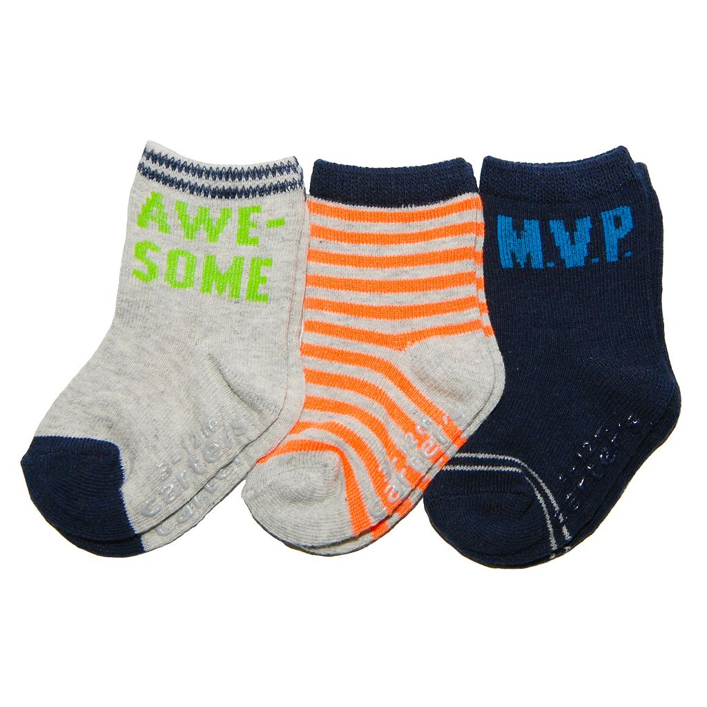 Baby / Toddler Carter's 3-pk. Solid & Stripe Socks