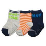 Baby / Toddler Carter's 3 pkSolid & Stripe Socks