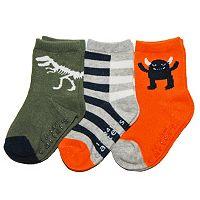 Baby / Toddler Carter's 3-pk. Dino & Monster Socks