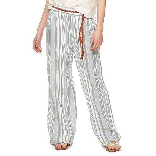Women's LC Lauren Conrad Striped Palazzo Pants