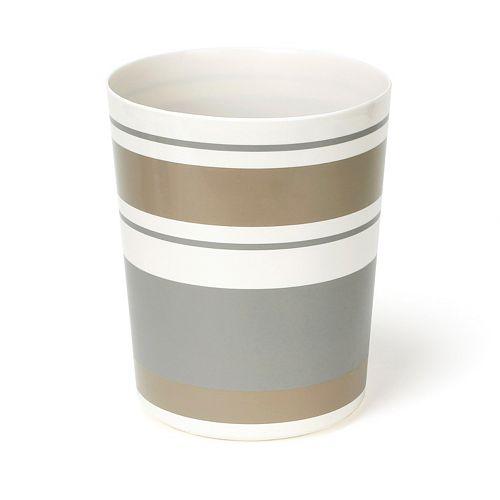 Saturday Knight, Ltd. Colorware Stripe Waste Basket