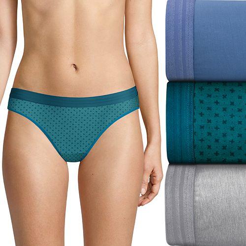 6dc6f299598a Women's Hanes Ultimate® 3-pack Constant Comfort X-Temp Bikini Panties