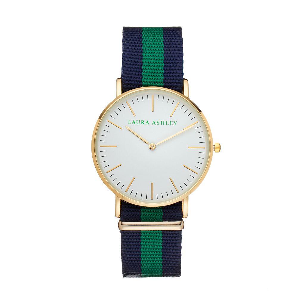 Laura Ashley Women's Striped Watch