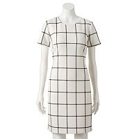 Women's Sharagano Quilted Plaid Shift Dress
