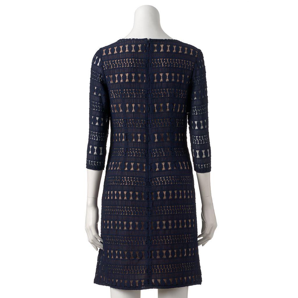 Women's Sharagano Lace Shift Dress