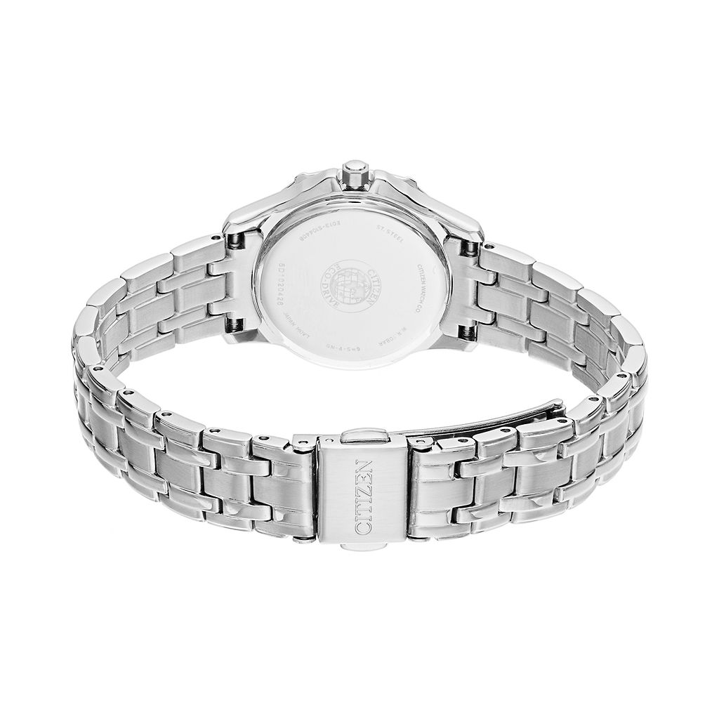 Citizen Eco-Drive Women's Diamond Stainless Steel Watch - EW2360-51A