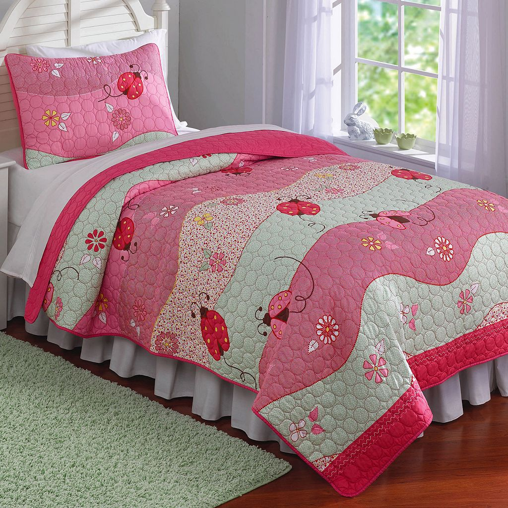Garden Waves 2-piece Twin Quilt Set
