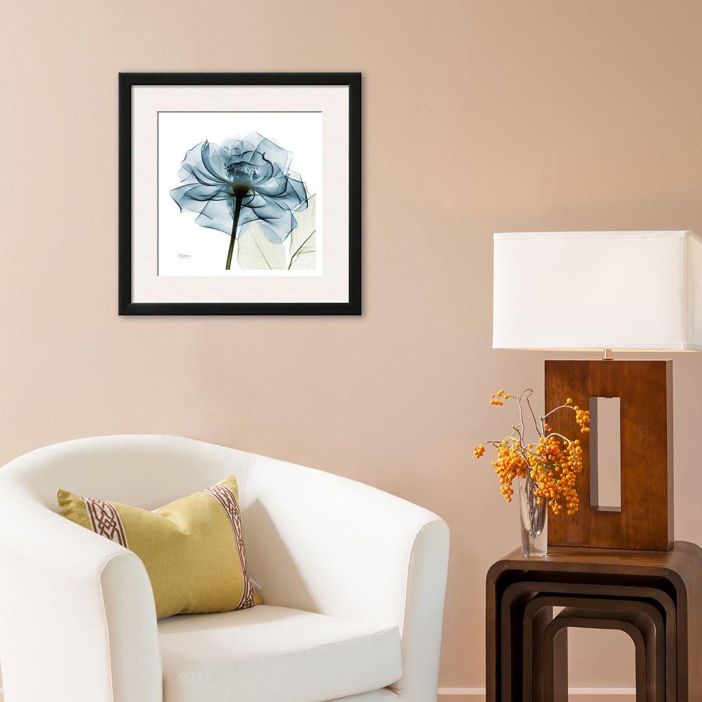 Art.com Blue Rose Matted Framed Wall Art