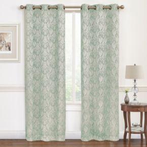 Regal Hampton 2-pack Damask Jacquard Window Curtains