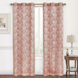 Regal 2-pack Hampton Damask Jacquard Window Curtains