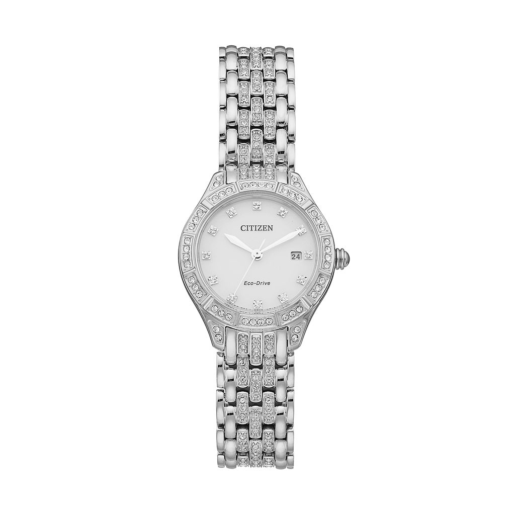 Citizen Eco-Drive Women's Silhouette Crystal Stainless Steel Watch - EW2320-55A