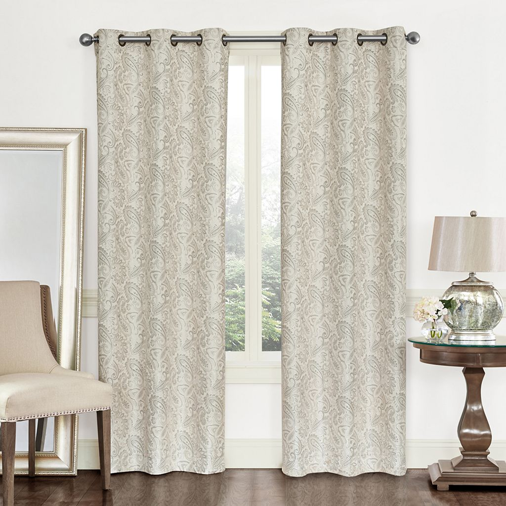 Regal 2-pack Paisley Jacquard Window Curtains