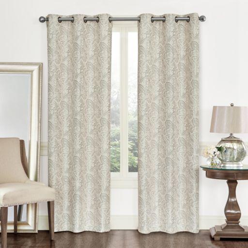 Regal 2-pack Paisley Jacquard Window Curtains