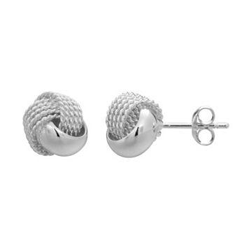 PRIMROSE Sterling Silver Love Knot Stud Earrings