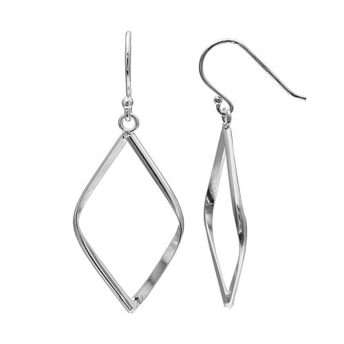 PRIMROSE Sterling Silver Kite Drop Earrings
